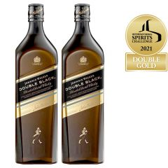 Johnnie Walker Double Black Blended Scotch Whisky 2x1L Twin Pack