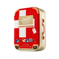 Lindt Assorted Napolitains Tin Suitcase Switzerland Flag Edition 360G