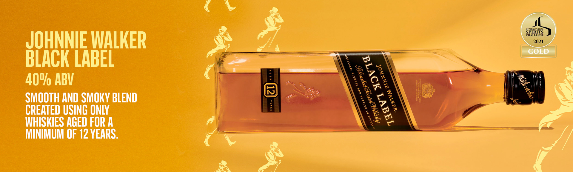 Johnnie Walker Black Label Aged 12 Years Blended Scotch Whisky 1L